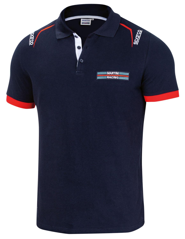 Sparco Poloshirt Martini Racing, dunkelblau