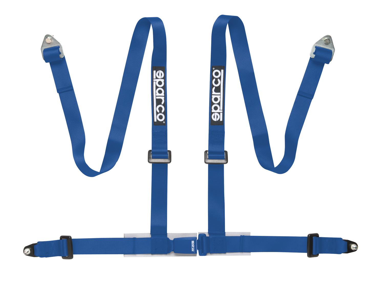 Sparco 4 Punkt Sportgurt mit ECE Zulassung, blau