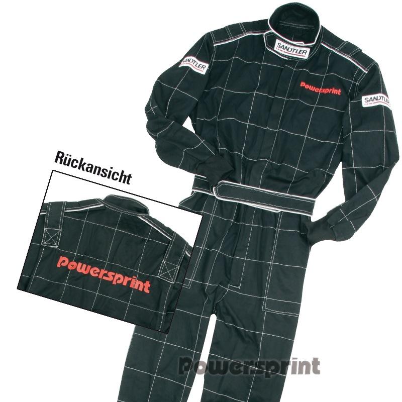 Powersprint Mechanikeroverall / Kartoverall, schwarz