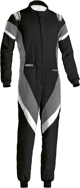 Sparco Rennoverall Victory (Modell 2020), schwarz/grau/weiß