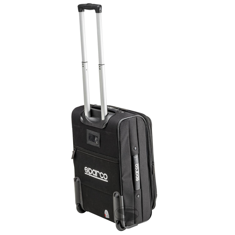 Sparco Reisetasche mit Rollen, schwarz