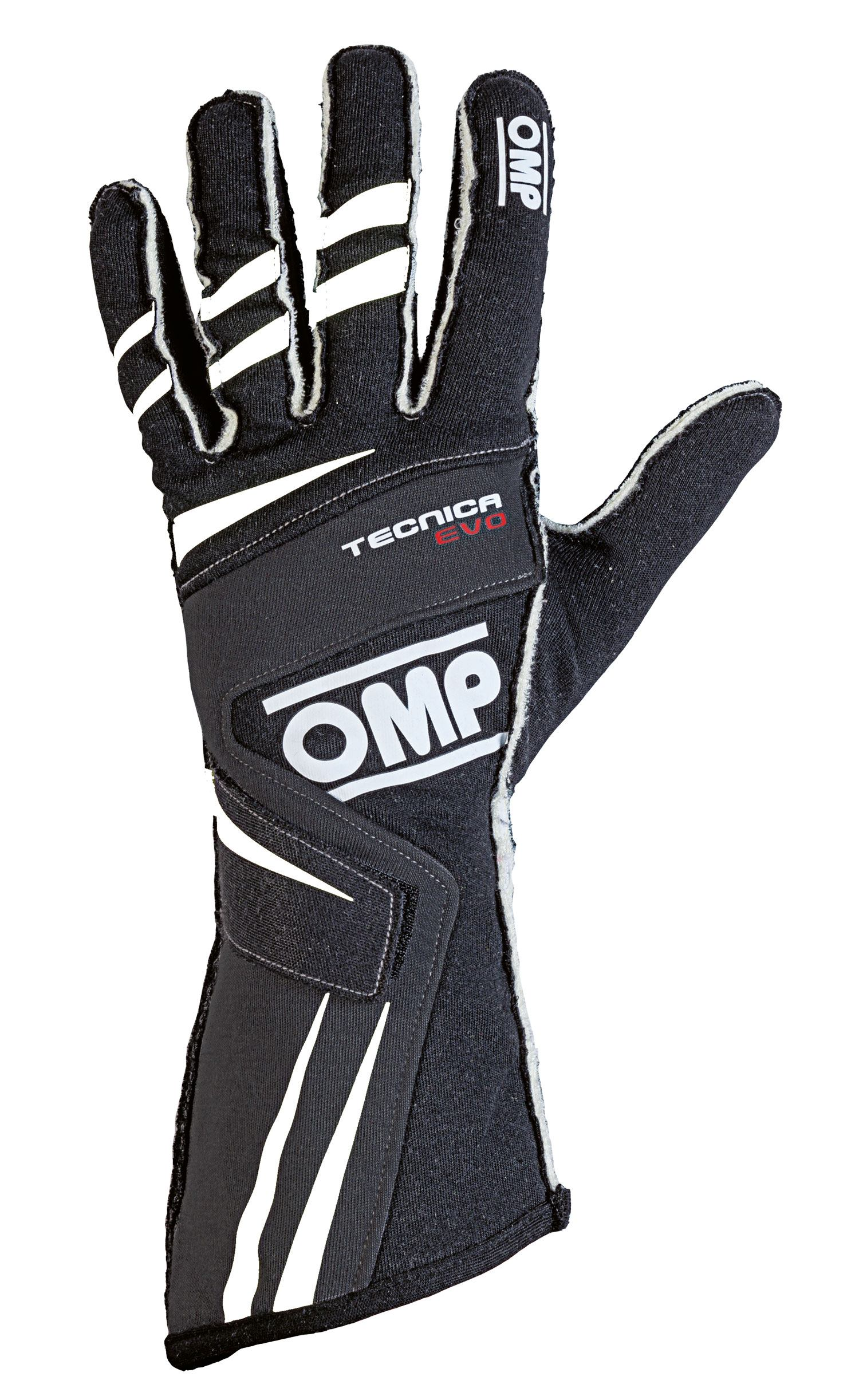 OMP Fahrerhandschuh Tecnica Evo, schwarz/weiß