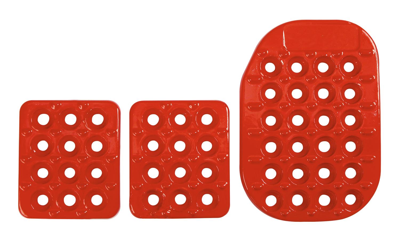 Aluminium Pedalsatz, rot