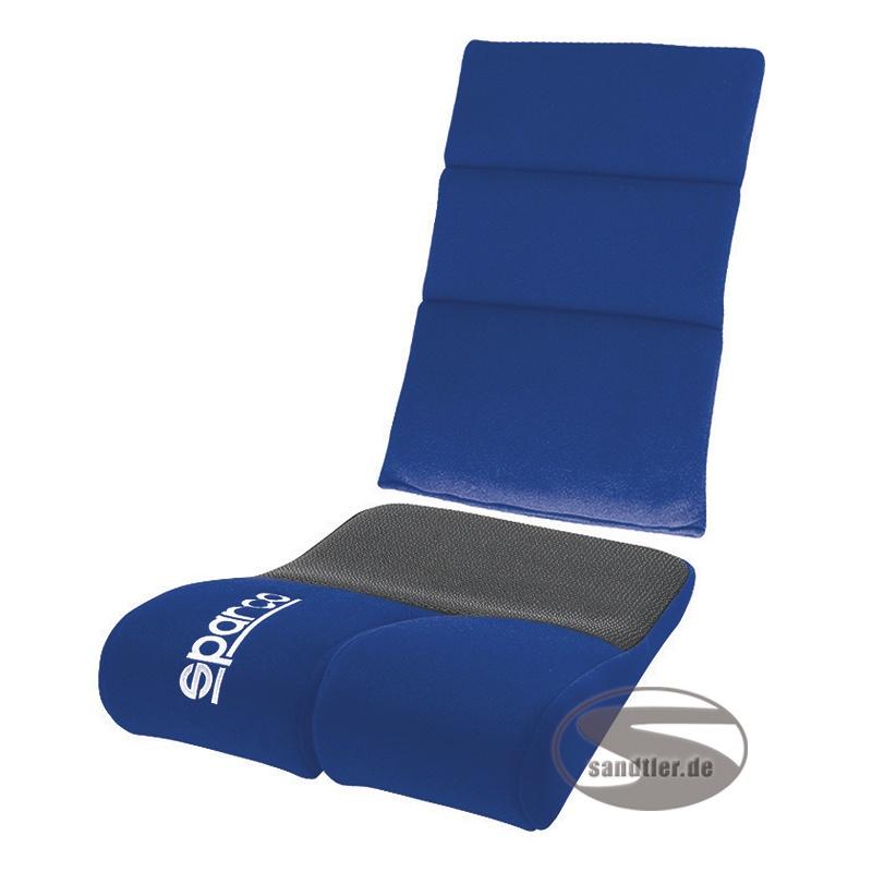Sparco Sitz-Rückenpolster Rev, blau (1047RB)