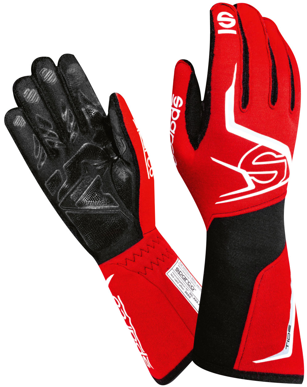 Sparco Handschuh Tide, rot/schwarz
