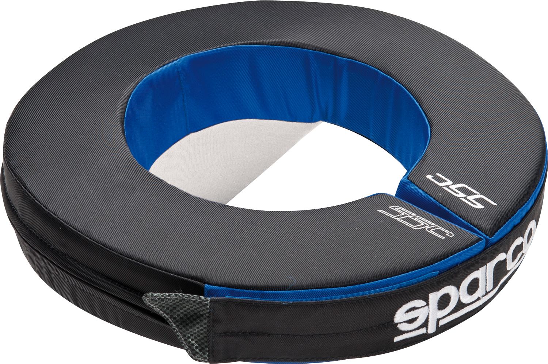 Sparco Nackenstütze Tondo, schwarz/blau