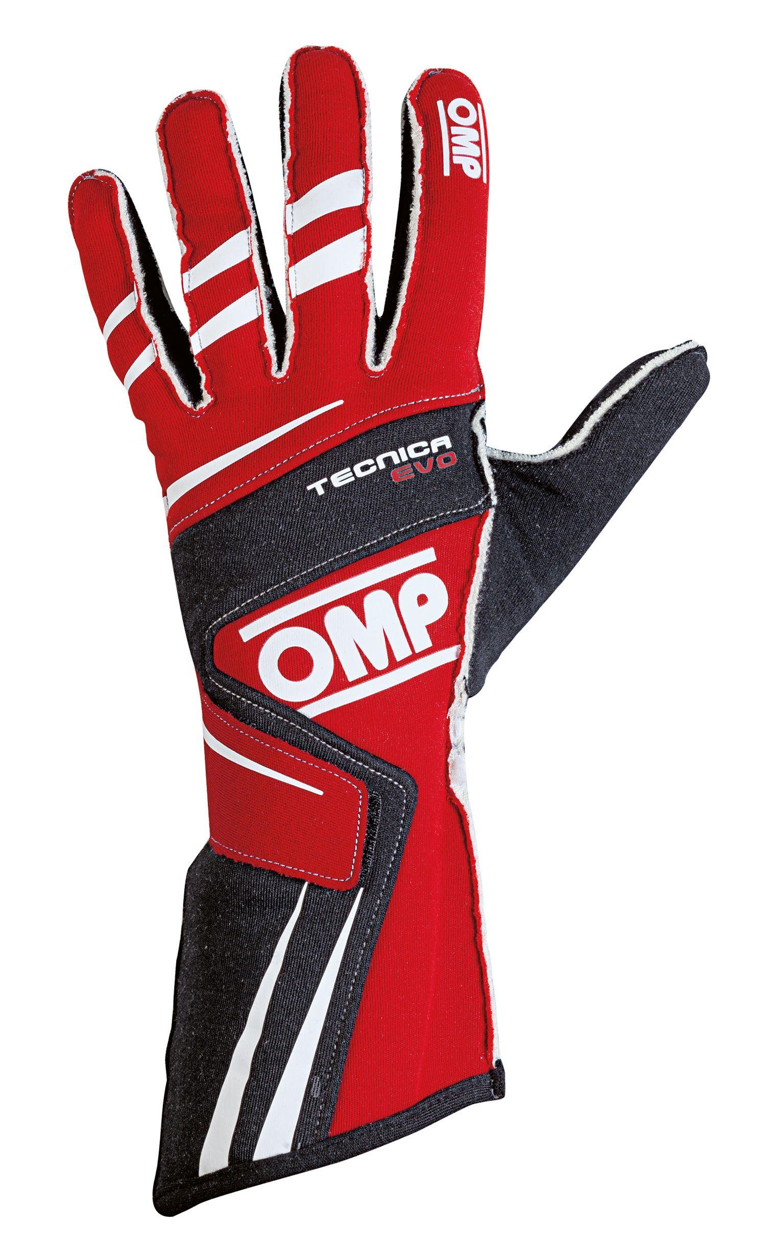 OMP Fahrerhandschuh Tecnica Evo, rot/schwarz