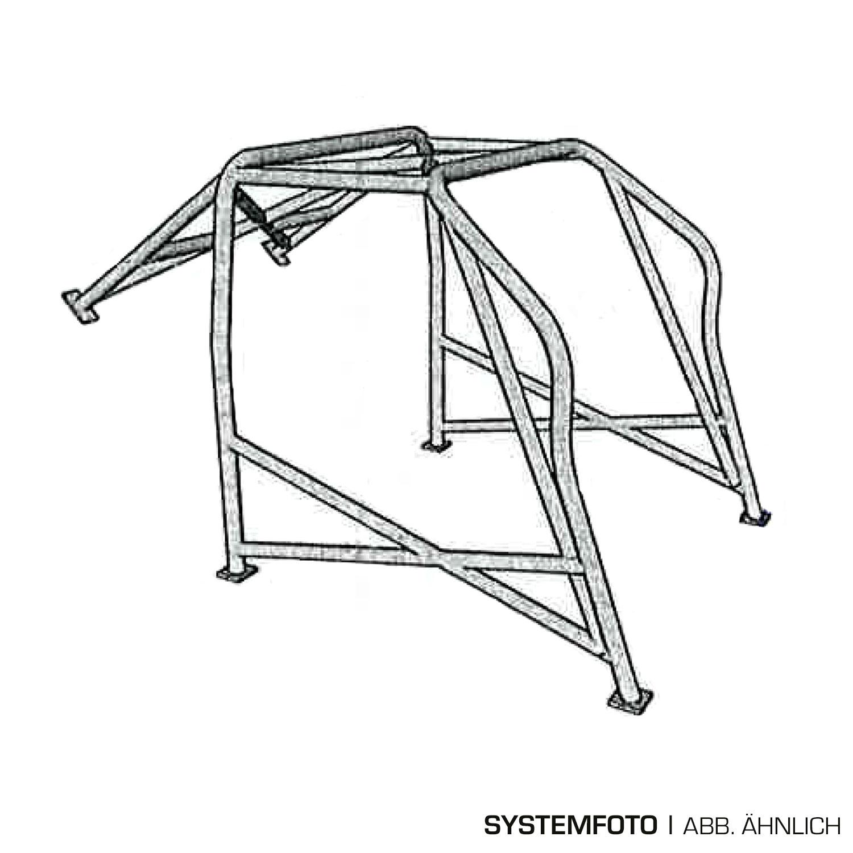 Wiechers Überrollkäfig Typ E, Opel Kadett D