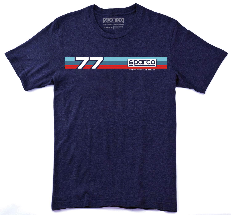 Sparco T-Shirt Rally, blau