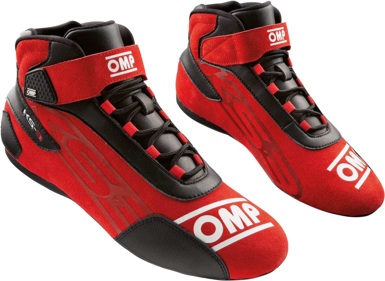 OMP Kartschuh KS-3, rot/schwarz