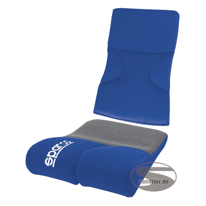 Sparco Sitz-Rückenpolster Evo, blau (1047EB)