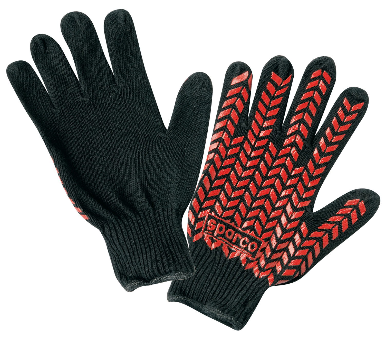 Sparco Service-Handschuh, schwarz/rot