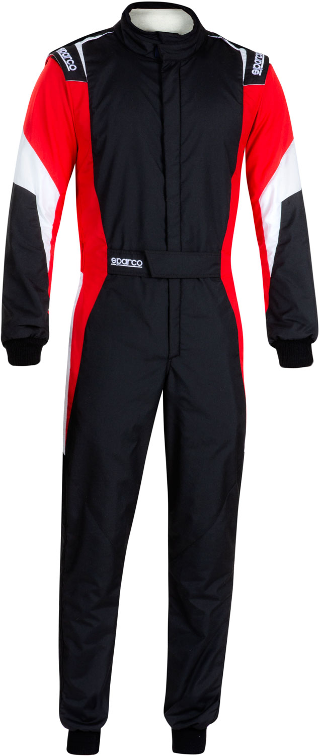 Sparco Rennoverall Competition Pro, schwarz/rot