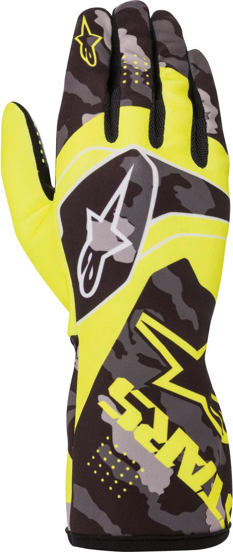 Alpinestars Karthandschuh Race v2 Camo, gelb/schwarz