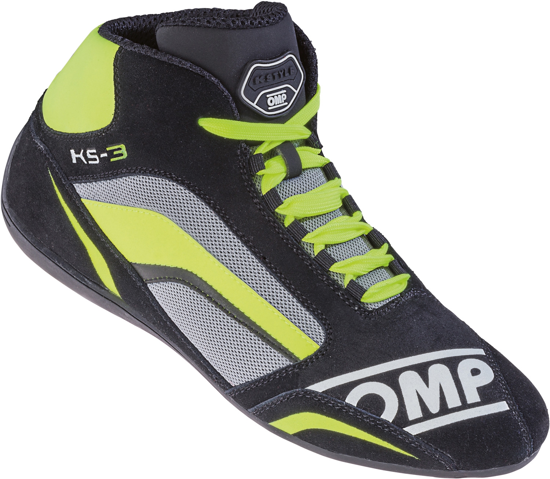 OMP Kartschuh KS-3, schwarz/gelb/grau