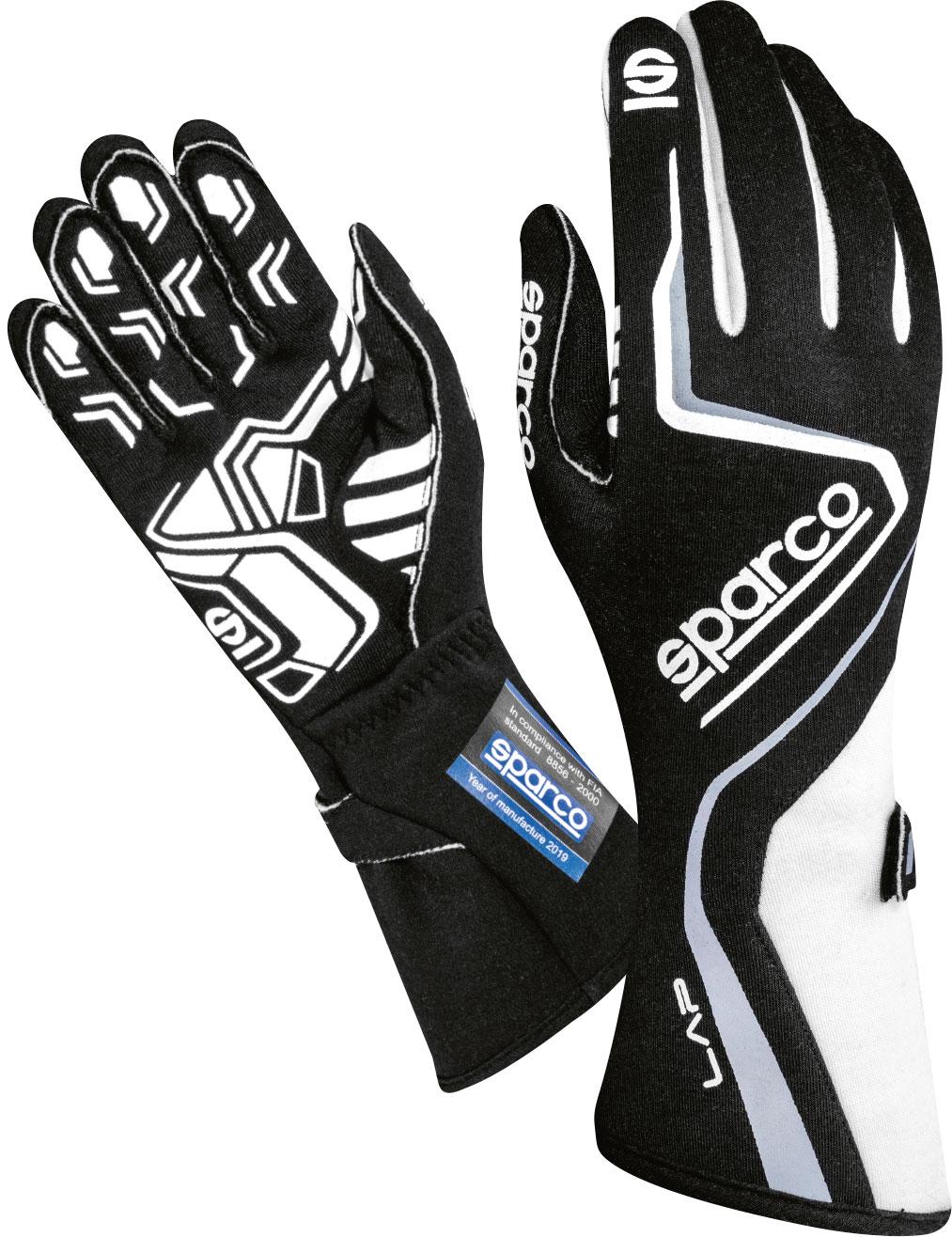 Sparco Handschuh Lap, schwarz/weiß