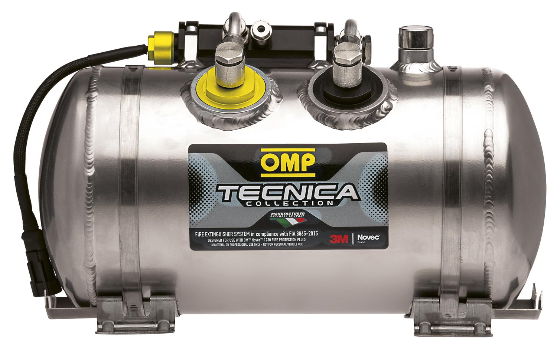 OMP Feuerlöschanlage Tecnica für Sport-, Touren- und Rallyewagen mit Novec 1230 Löschmittel (101420, 101421)